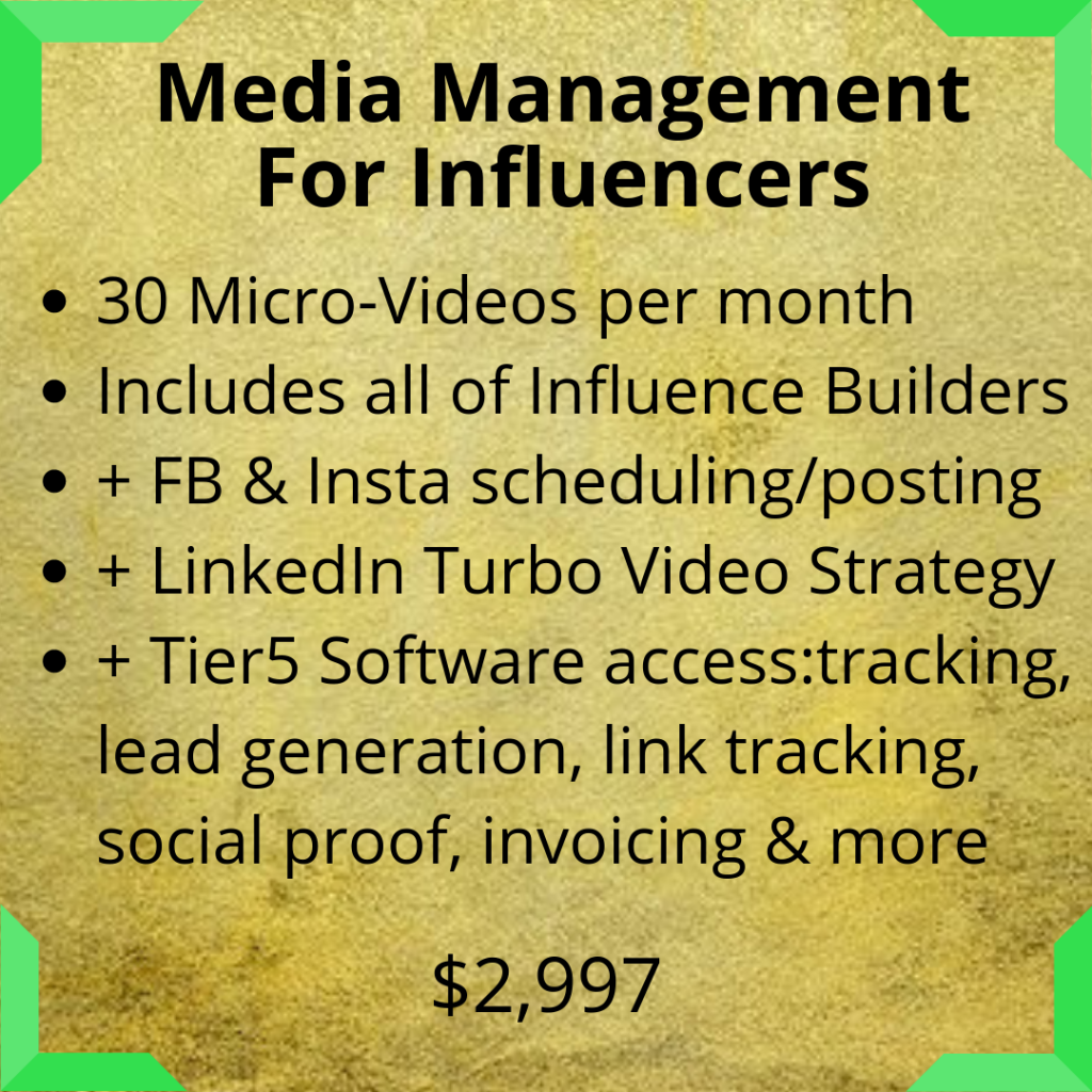 Influencers, social media services, microvideos