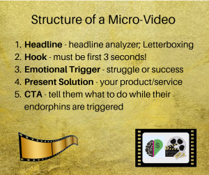 structure of a microvideo, how to make a microvideo, what is a microvideo