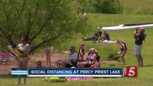 Social distancing practiced at Percy Priest Lake [Video]