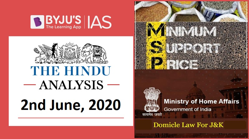 The Hindu Video Analysis, 2nd of June 2020; Daily Video News Analysis for UPSC